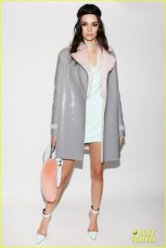 Kendall Jenner Almost Get Hits by Rolling Car (Video): Photo #935066. Kendall Jenner wears a coat over her pastel-colored dress while walking in the Versace fashion show held during Milan Fashion Week on Friday (February 26) in Milan,…
