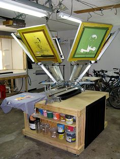 New Silk Screen Printing Press 62 Ideas Screen Printing Equipment, Screen Printing Press, Screen Printing Machine, Screen Printing Shirts, Silkscreen, Screen Design, Screen Wallpaper, Diy Table, Mod Melts