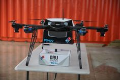 Flirtey flies pies for Dominos in New Zealand Dominos Pizza Enterprises has demonstrated delivery of hot pizzas by drone in Auckland New Zealand.  The company has a long history of embracing high-tech concepts. Last year they tested out a four-wheeled driverless pizza delivery vehicle. And in 2012 Dominos launched a casual build-a-pizza game that also let players order the pizza they built digitally for real life delivery.  The company also uses e-bikes and electric scooters for delivery. In…