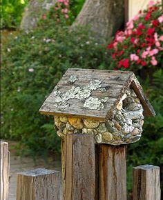 stone birdhouse  :-)