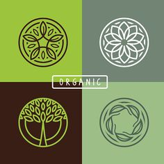 Vector Art : Vector abstract emblem - ecology