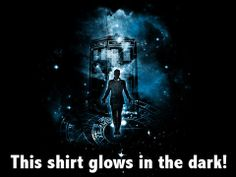 The Time Traveler, a cool glow-in-the-dark sci-fi shirt from TeeTurtle.