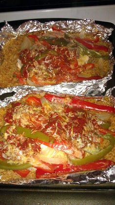 Foil pack chicken fajita dinner