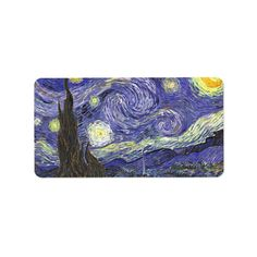 Starry Night by Vincent van Gogh 5 sheets.