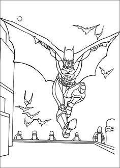 Batman Fargelegging for barn. Tegninger for utskrift og fargelegging nº 39