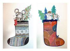 """РИСОВАНИЕ ДЛЯ ДЕТЕЙ В ОМСКЕ. СТУДИЯ """"ПЕРЕМЕНА""""'s photos Christmas Art Projects, Christmas Arts And Crafts, Winter Art Projects, Art Club Projects, School Art Projects, Projects For Kids, 4th Grade Art, Crafty Kids, Heart For Kids"""