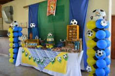 Candy Bar Real Madrid 10th Birthday, Birthday Ideas, Birthday Cake, Soccer Theme Parties, Party Themes, Real Madrid, Candy, Bar, Desserts