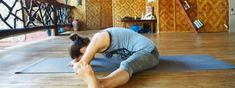 Straddle yin yoga pose