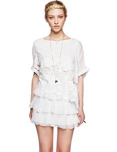 Frills and lace dress $63.00