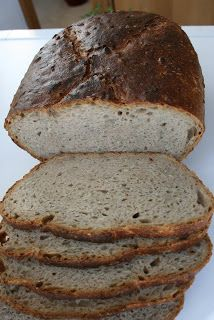 Вчера пекла вкусный хлеб на закваске с семечками. К сожалению, не нашла в магазине ржаной муки погрубее, использовала мкук немного светлее...