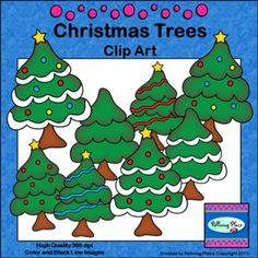 Christmas Trees Clip Art ($)