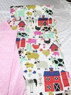 Nap Mat with Pillow Daycare Nap Mat Farm Animal Nap Mat