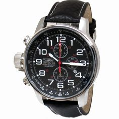 mens+invicta+watches | Invicta 2770 Men's Black Stainless Steel Lefty Chronograph
