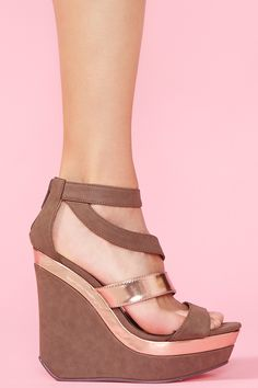 Metal Mayhem Platform Wedge