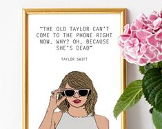 Taylor Swift - The Old Taylor is dead a4 print frame