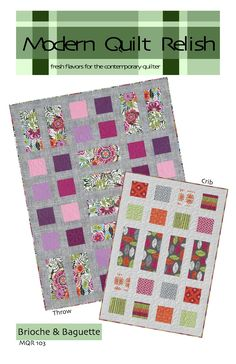 Modern Quilt Relish: Our Pattern Shop with wonderful fresh ideas