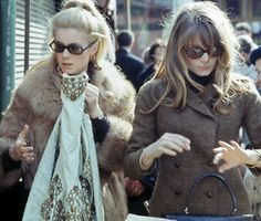 stylish sisters Catherine Deneuve and Françoise Dorléac
