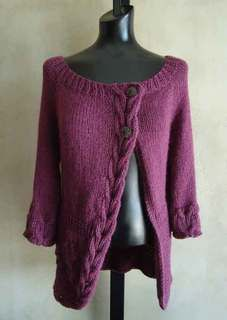 #94 Cables and Flowers Top-Down Cardigan PDF Knitting Pattern #knitting #SweaterBabe.com