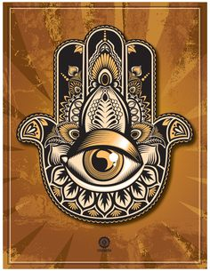 Stylized Hamsa Hand -Protection and Power