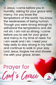 Prayer For Mercy, Faith Prayer, God Prayer, Power Of Prayer, Forgiveness Prayer, The Miracle Prayer, Prayer Scriptures, Bible Prayers, Catholic Prayers
