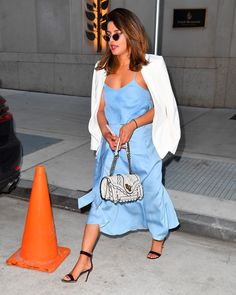 Priyanka Chopra - wears a blue dress when out and about in New York City, New York - June 2018 Priyanka Chopra, Blue Dresses, New York City, June, How To Wear, Fashion, Moda, Fashion Styles, Fasion