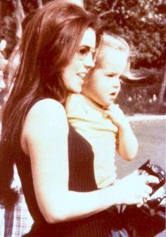allaboutcilla:  Priscilla Presley and Lisa Marie in Disney Land, 1970.