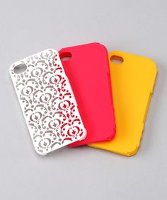 $17 Bordeaux Case Set for iPhone 4/4S   Daily deals for moms, babies and kids...I WANT THE LACE ONE!