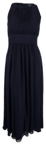 Lauren Ralph Lauren Women's Sleeveless Ruched Gown (12, Lighthouse Navy)