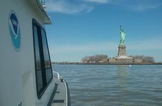 NOAA begins 2013 post-Sandy hydrographic surveys at Statue of Liberty
