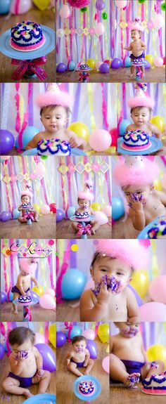 1 Year Old Girl Cake Smash by C. Linz Photography