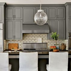 Need to repaint my cabinets this color....Chelsea Gray by Benjamin Moore - Southern Living January 2013