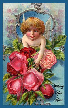 free Vintage Valentine download / clip art~ Cupid