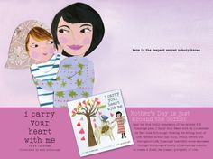 E.E. Cummings' book I Carry Your Heart With Me - Mother's Day (illustration by Mati Rose McDonough)