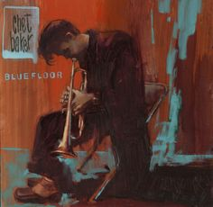 "William Wray (b.1956) ~ Chet Baker ~ Oil on Canvas 12"" x 12"""