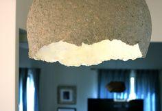 How to make a paper mâché pendant light