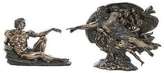 Veronese-Bronze-Figurine-Religious-Creation-of-Adam-Michelangelo-Home-Decor