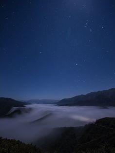 新潟県長岡市魚沼市・枝折峠 Northern Lights, Sunrise, To Go, Moon, Japanese, Mountains, Star, Night, Travel