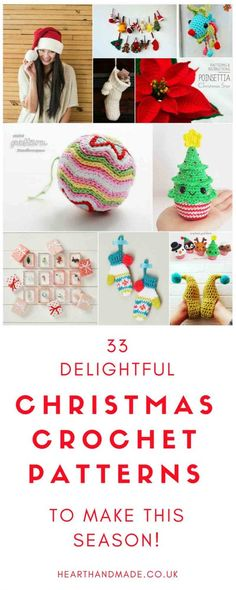 in search of fabulous Christmas Crochet Patterns? This Santa Crochet Hat Pattern is an awesome idea to make this Christmas. I love the variety of Christmas Patterns chosen! #Christmas #ChristmasCrochet #Crochetpatterns #Christmasideas #christmasdecor #holiday #holidaydecor #Crochetprojects