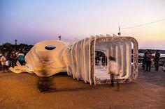GSAPP + NMIMS studios construct space + image pavilion in mumbai
