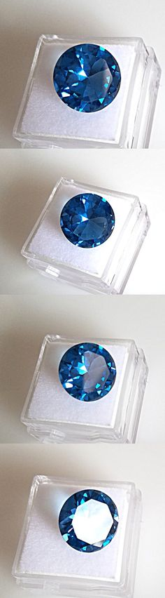 Topaz 10270: 10.70Ct. Round Cut Genuine (Natural) London Blue Topaz 14.0Mm Loose Stone -> BUY IT NOW ONLY: $139 on eBay!