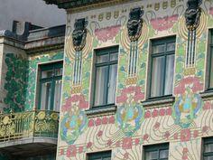 Majolikahaus (Linke Wienzeile 40) and Linke Wienzeile 38, designed by Otto Wagner, Vienna, Austria, 1898-1899
