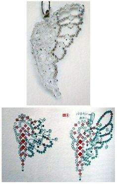 Crystal Beaded butterfly - Beaded Jewelry Patterns 串珠半面蝴蝶