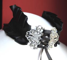 Gothic necklace victorian neck corset by pinkabsinthe on Etsy, $25.00