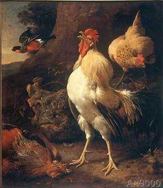 Melchior de Hondecoeter - M.de Hondecoeter / Victor.Cockerel / Ptg