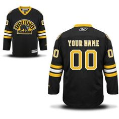 Reebok Boston Bruins Men's Premier Alternate Custom Jersey - Black