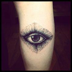 Eye by Brucius Tattooist  #penandink style  #eyetattoo