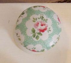 Cupboard Knobs With Cath Kidston Paper