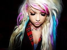 cute fun hair color and style