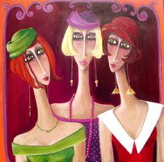 """""""Les triplettes, brune, rousse, blonde"""" Artista: Véronique Didierlaurent Enlazado de http://didierlaurentveronique.com/archives.html"""
