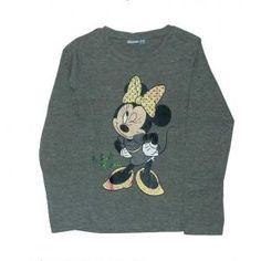 T-shirt  Minnie - manches longues - gris - minnie mouse